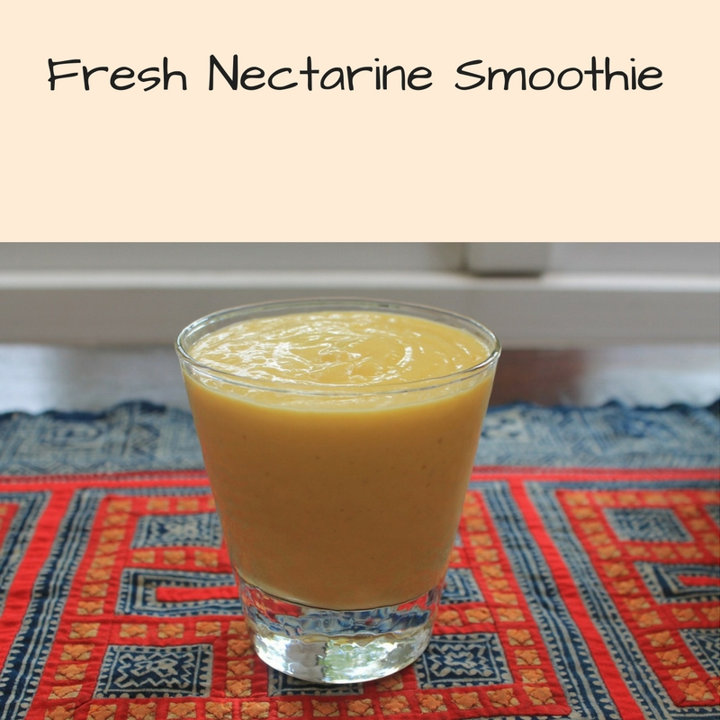 Fresh Nectarine Yogurt Smoothie